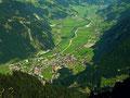 Mayrhofen im Zillertal von der Ahornbahn-Bergstation
