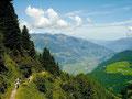 Rüßckblick vom Weg zur Edelhütte über das hintere Zillertal