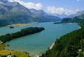 Blick über den Silser See von der Via Engiadina