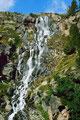 1981: Wasserfallkaskaden neben dem Hüttenweg
