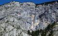 Felswand am Grünkogel mit Überhängen