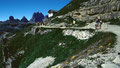 Auronzohütte 2320 m. Ausgangspunkt der Umwanderung der Drei Zinnen