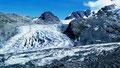 1986: Einmündung des Persgletschers in den Morteratschgletscher