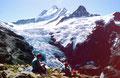 Am Aussichtspunkt auf den Eiger: Herrliche Aussichtsloge auf Schreckhörner, Gletscher und Eiger