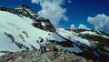 Am Kl. Grießkogel vor dem Schnee- und Gletscherfeld zum Gr. Grießkogel