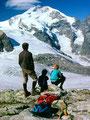 Piz Bernina , Persgletscher und Isla Persa von der Diavolezza
