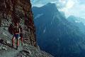 Doldenhorn und Blümlisalpkamm von der Stirnmoräne des Lötschengletschers