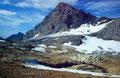 Rotferdenhorn und -gletscher vom Lötschenpass aus. Links im Bild ganz klein das 4500 m hohe Walliser Weishorn.