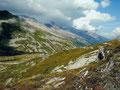 Unterwegs zu einem Aussichtspunkt am Pfitscher Joch
