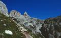 Kleiner Abstieg von der Drei-Zinnen-Hütte zum Rienzboden