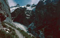Steig zur Glecksteinhütte über dem Oberen Grindelwaldgletscher