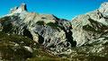 Berge westlich der Drei-Zinnen-Hütte