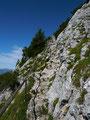 Steiles Schlussstück am Ribeisen