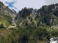 Die steilen, felsigen Abhänge im Floitngrund