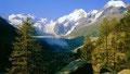 Val Morteratsch vom Weg nach Chünetta hinauf