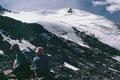 Rast auf der Isla Persa. Blick zum Fortezzagrat hinauf.