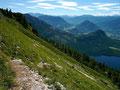 Der Steig durch die steile Loserflanke
