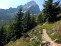 Zur Erholung ein Stück ebener Hüttenweg zum Prielschutzhaus