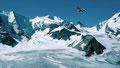 Persgletscher, Fortezzagrat und Bellavista von der Diavolezza