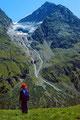 Fuorcla Surlej: Piz Tschierva. Der Gletscher dürfte sich inzwischen zurückgezogen haben.