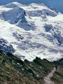 1981: Die 3922 m hohe Bellavista hinter der Moräne