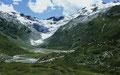 1986 reichte der Fexgletscher fast noch ins Tal hinab.