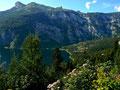 Die Seewiese am Altausseersee mit Loser vom Weg zur Bürgermeistgerbank