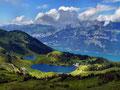 Seebensee und Walensee vom Weg unterhalb der Bergstation