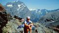Gipfelrast am Unteren Tatelishorn. Im Hintergrund links Doldenhorn, rechts davon Petersgrat und Kamm zum Hockenhorn