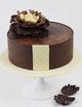 Geburtstagstorte mit Deko aus Modellierschokolade