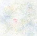 """「清らかな朝」 S3 (27.3×27.3cm) ケント紙、鉛筆、水彩 作家蔵   """"The clear morning""""  drafting paper, pencil, water color"""