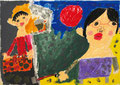 「働くお母さん」 リ・ドゥンジン 西播朝鮮初中級学校