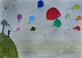 「友達に送る風船」 キム・リョンシム 長野朝鮮初中級学校