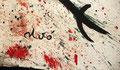 Joan Miro (1893-1983) : Personnages et oiseaux dans la nuit