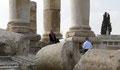 La photo souvenir à la Citadelle d'Amman