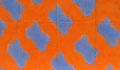 Claude Viallat (né en 1936) : Orangé, formes bleu clair