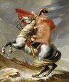 """Bonaparte franchissant le Grand St-Bernard"" par Jean-Louis David (1748-1825) et Svetlana petrova"