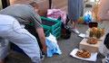 Myrtilles et champignons au marché de Riga
