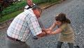 Alice joue les canailles avec Gaby (toutes photos d'Alice sur sa page)