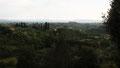 Vue sur la campagne toscane de la porte de la ville