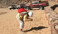 La petite bête dans le sable du Wadi Rum
