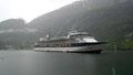 Le fjord est assez profond pour les bâteaux de croisière