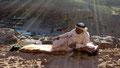 Rayons du couchant. Sur un des sites de Petra en Jordanie