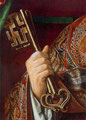 Triptyque de la Vierge de l'Apocalypse : les clés de St-Pierre