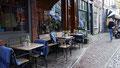 Couvertures pour les clients d'un café à Amsterdam
