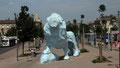 Lion bleu de Xavier Veilhan à Bordeaux