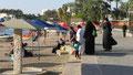 Famille sur la plage d'Aqaba