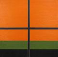 Atelierfenster orange 1995/96 Ölfarbe auf Leinwand 230 x 230 cm