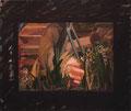 rouge et noir 1979 Öl-, Lackfarbe auf Leinwand 110 x 130 cm