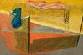 Der Begleiter 1987 Ölfarbe auf Leinwand 60 x 90 cm